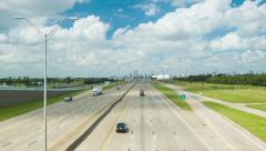 Deer Park Freeway 225 Through Industrial Area of Houston TX Stock Footage