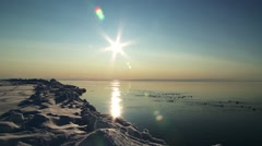 Landscape of the Arctic ocean. Stock Footage