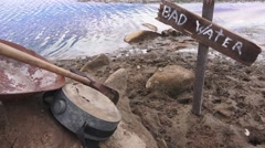 Watering hole, old western concept, symbolic - stock footage