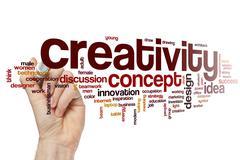 Creativity word cloud concept - stock illustration