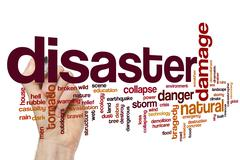 Stock Illustration of Disaster word cloud concept