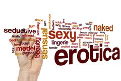 Erotica word cloud concept - stock illustration