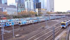 Melbourne rush hour rail traffic very busy Stock Footage