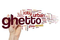 Stock Illustration of Ghetto word cloud concept