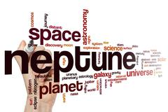 Neptune word cloud concept - stock illustration