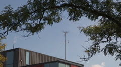 Weather station instruments mounted at uiversity campus Stock Footage