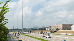 I69 Traffic in Houston Texas Wide Stock Footage
