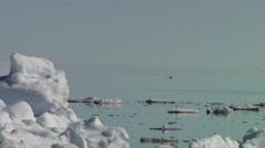 Edge of an Arctic ice floe. Stock Footage