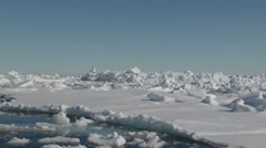 Ice floe in the frozen Arctic sea. (Pan) Stock Footage