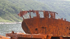 Rusty ship Stock Footage