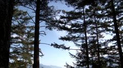Rocky Mountains surrounding a bay in British Columbia. Stock Footage
