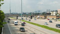 I69 Traffic in Houston Texas Stock Footage