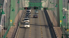 Time lapse of traffic on the Lions Gate Bridge. Stock Footage