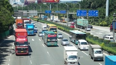 Shenzhen, China: traffic landscape at Nantou frontier inspection station - stock footage