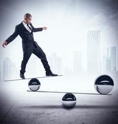 Businessman skill of balance - stock illustration