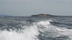 Waves from the boats Stock Footage