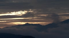 Time lapse of a sunset over mountains in Ucluelet, British Columbia. Stock Footage