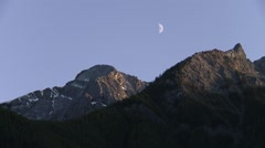 Summits of the Bugaboo Mountain range, British Columbia. Stock Footage