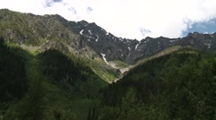 Valley within the Bugaboo Mountain Range. Stock Footage