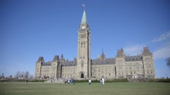 The Canadian Parliament in downtown Ottawa, Ontario. Stock Footage