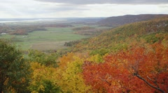 View of the Ottawa/Gatineau countryside from Champlain Lookout. (Tilt) Stock Footage