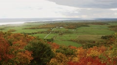 View of the Ottawa/Gatineau countryside from Champlain Lookout. Stock Footage
