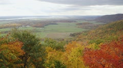 View of the Ottawa/Gatineau countryside from Champlain Lookout. (Tilt) (Pan) Stock Footage