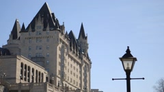 The Chateau Laurier, Ottawa, Ontario. Stock Footage