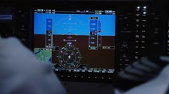 Digital cockpit display in a simulator. - stock footage