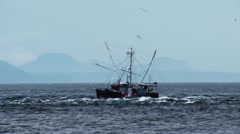 A fishing boat off the coast of British Columbia. Stock Footage