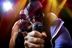 Rappers Concert - stock photo