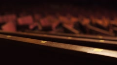 Benches for spectators in the Grand Ole Opry. Stock Footage