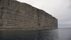 High cliffsides surrounding a Greenland bay. Stock Footage