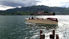 Italy - Lake Orta water taxi - stock footage
