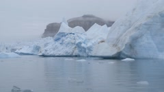 Row of large icebergs in the Arctic ocean. Stock Footage