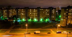 Saint Petersburg at night high angle view, Toy effect Stock Footage