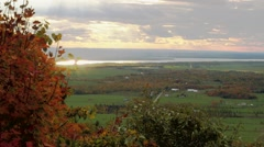 View of the Ottawa/Gatineau countryside from Champlain Lookout. (Rack) Stock Footage