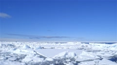 Time-lapse of ice floe moving quickly. - stock footage