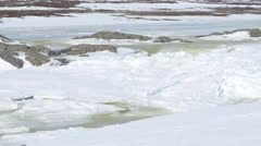 Melting ice in the Arctic plains. Stock Footage
