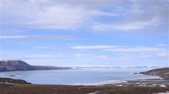 Mountain landscape in Arctic Bay, Nunavut. Stock Footage