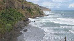 Surf and Cliffs Stock Footage