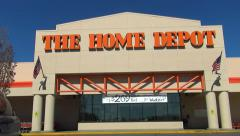Home Depot storefront, drive up Stock Footage
