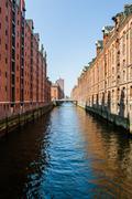 Hamburg: Famous Speicherstadt warehouse district Stock Photos