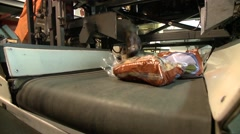 Stock Video Footage of Ontario, Bagged Potatoes on a Conveyer