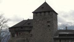 Liechtenstein Vaduz Castle 4K Stock Footage