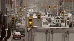 Time lapse of a downtown street in Ottawa, Ontario. Stock Footage
