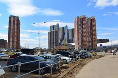 KRASNOGORSK, RUSSIA - APRIL 22,2015: Krasnogorsk is city and center of Krasno - stock photo