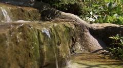 Small two-tier waterfall, Ottawa, Ontario. Stock Footage