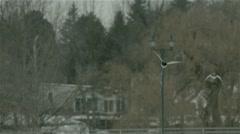 Pair of mallard ducks flying. Stock Footage
