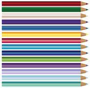 Colour pencils, crayons set  isolated on white background Stock Illustration
